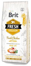 Brit Fresh Adult Chicken with Potato Sucha Karma dla psa op. 12kg
