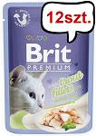 Brit Premium Adult Trout Fillets JELLY Mokra Karma dla kota op. 85g PAKIET 12szt.