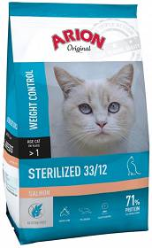 Arion Original Cat Sterilised 33/12 Salmon Sucha Karma dla kota op. 7.5kg + Vitakraft Cat Stick Mini Łosoś z pstrągiem op. 3szt. GRATIS