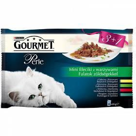 1a32fc01e5cb41 Gourmet Perle Adult Mini Fileciki w sosie z warzywami Mokra Karma dla kota  op. 4x85g