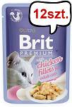 Brit Premium Adult Chicken Fillets JELLY Mokra Karma dla kota op. 85g PAKIET 12szt.