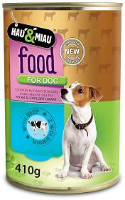 Hau&Miau Food for Dog Adult Wołowina Mokra Karma dla psa op. 410g
